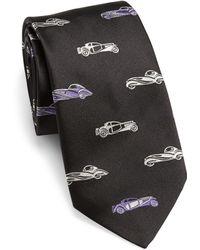Ralph Lauren Purple Label Cars Repeat Silk Tie - Black