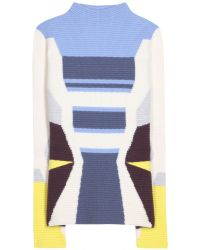 Peter Pilotto Wool and Angora Blend Sweater - Lyst