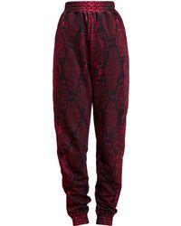 Christopher Kane Unisex Snakeskin Cotton Sweatpants - Lyst