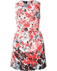 RED Valentino Short Floral Shift Dress - Lyst