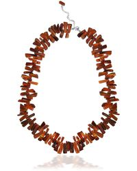 Lord & Taylor - Carnelian And Sterling Silver Fragment Necklace - Lyst