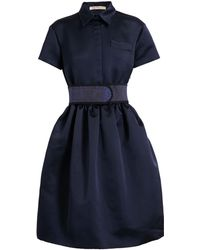 Christopher Kane Silk Shirt Dress - Lyst