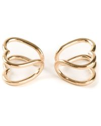 Coops London - Heart Shaped Squeeze On Earrings - Lyst