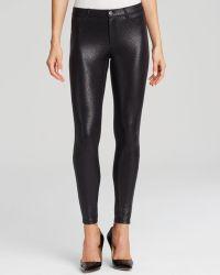 Hue Satin Jersey Metallic Gravel Leggings - Black