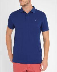 Hackett   Blue Tailored Logo Polo Shirt   Lyst