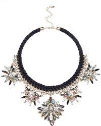 River Island Black Statement Embellished Necklace black - Lyst