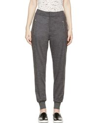 McQ by Alexander McQueen Grey Mlange Wool Tailored Lounge Trousers - Lyst