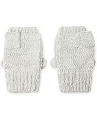 Forever 21 Cat Face Convertible Gloves - Gray