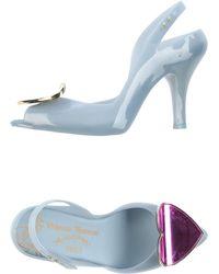 Vivienne Westwood Anglomania Sandals blue - Lyst