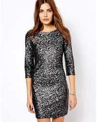 Mango All Over Sequin Body Conscious Dress - Lyst