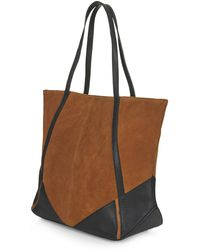 Topshop Suede and Leather Holdall - Lyst