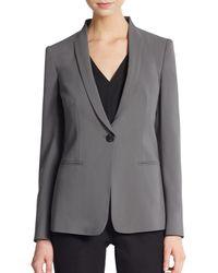 Armani Featherweight Wool Molded-Collar Jacket - Lyst