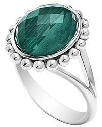 Lagos 'Maya' Small Doublet Ring - Malachite green - Lyst