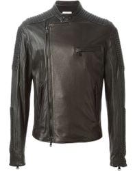 Balmain Zipped Biker Jacket - Lyst