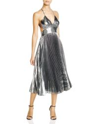 Rebecca Taylor - Metallic Pleated Dress - Lyst