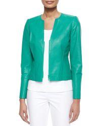 Lafayette 148 New York Abrina Textured Leather Jacket - Lyst