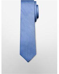 CALVIN KLEIN 205W39NYC - White Label Slim Glacial Micro Dot Silk Tie - Lyst