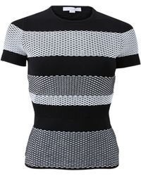 Alexander Wang Bi-Color Mesh Stripe Tee black - Lyst