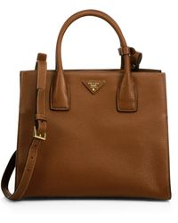 Prada Daino Twin-Pocket Tote - Lyst