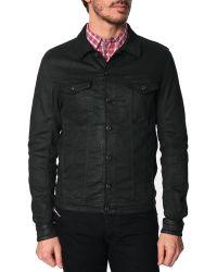 Diesel Elshar-Ne Black Jogg Wax-Coated Jacket black - Lyst