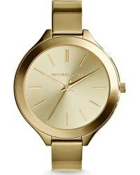 Michael Kors Ladies Slim Runway Three-Hand Watch - Lyst