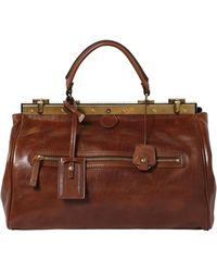 The Bridge Hand-Painted Leather Doctor Bag - Brown