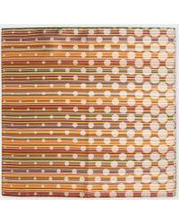 Paul Smith Signature Stripe Polka Dot Silk Pocket Square - Lyst