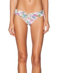 Hanky Panky Low Rise Wild Flower Thong - Lyst