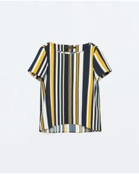 Zara | Striped Top | Lyst