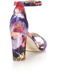 Manolo Blahnik | Laurato Printed Sandals | Lyst