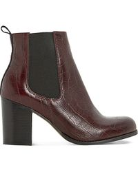 Dune | Prynn Crocodile-embossed Leather Chelsea Boots | Lyst