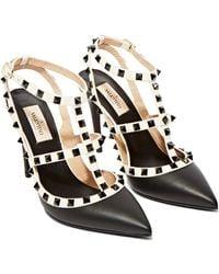 Valentino Stud Heeled Sandals - Black