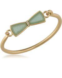 Carolee - Golden Trellis Jade Bracelet - Lyst