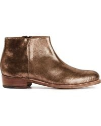 Grenson Side Zip Ankle Boots - Lyst