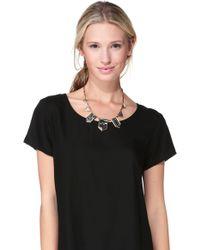 House Of Harlow 1960 Necklace / Longcollar - N00517M Engraved Classic Station Necklace - Lyst
