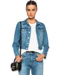 Acne Studios Tag Denim Jacket - Lyst