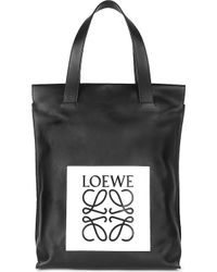 Loewe Shopper Calf-leather Tote - Lyst