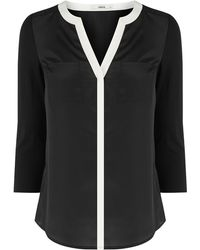 Oasis Tipped Woven Front Shirt - Lyst