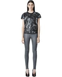 Balenciaga Marble Short Sleeves Top - Lyst
