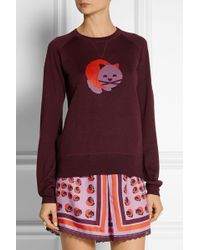 Anna Sui  James Coviello Cat-intarsia Wool-blend Sweater - Lyst