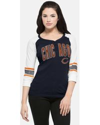 47 Brand | 'chicago Bears - Rookie' Graphic Henley Top | Lyst