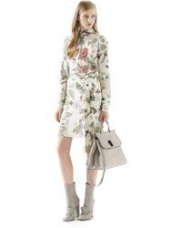 Gucci Flora Knight-print Silk Shirtdress - Lyst