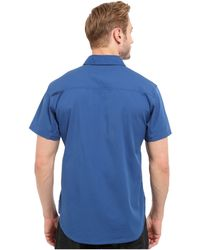 Black Diamond Short Sleeve Stretch Operator Shirt - Blue