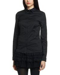Patrizia Pepe Long Sleeve Slim-fit Shirt in Stretch Cotton Poplin - Lyst