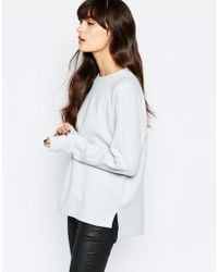 SELECTED Elected Wanja Sweat Top With High Neck - Blue