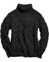 COACH X Blitz Mohair Funnel Neck Sweater - Black