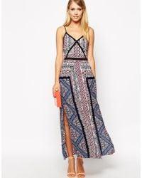 Oasis Geotribal Scarf Maxi Dress - Lyst