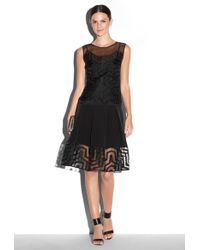 Milly Aztec Fil Coupe Overlay Dress - Lyst