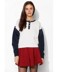 BDG - Colorblock Henley Pullover Sweatshirt - Lyst