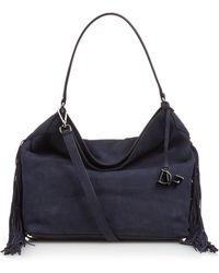 Diane von Furstenberg | Voyage Boho Fringed Leather Shoulder Bag | Lyst